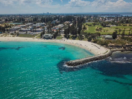 Aerial View of Cottesloe Perth